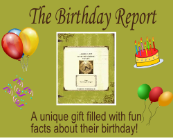 The Birthday Report