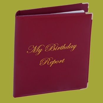 Deluxe Birthday Report Cover